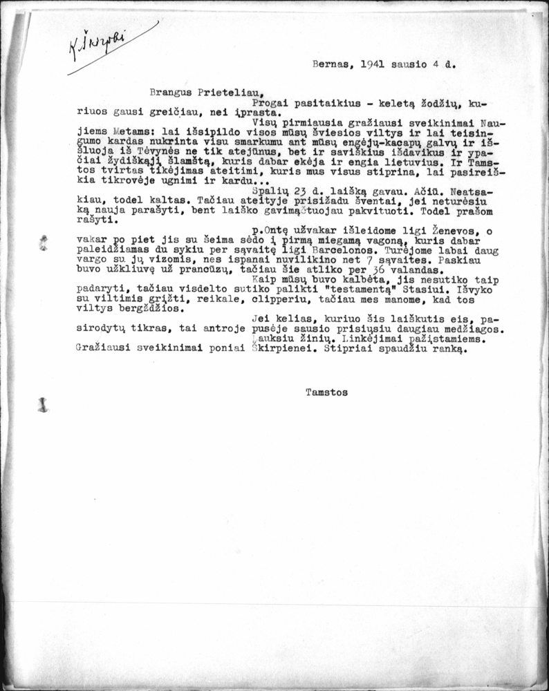 Documents Which Argue For Ethnic Cleansing By Kazys Kirpa